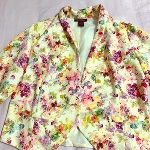 Ashley Stewart floral blazer
